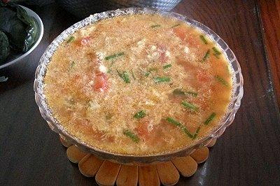 西红柿鸭蛋汤