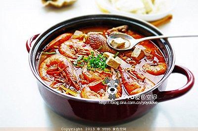 家常豆腐大虾汤