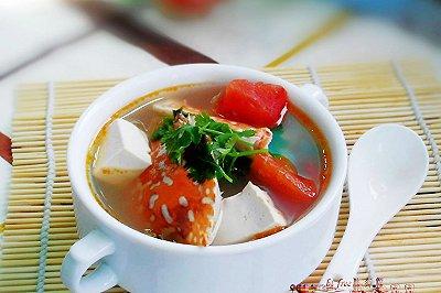 番茄豆腐花蟹汤