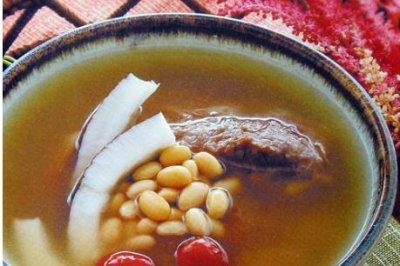 椰子黄豆牛肉汤