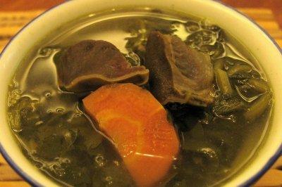 西洋菜煲腊鸭肾