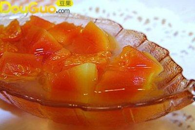 冰糖银耳木瓜甜汤