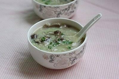 香菇猪肝粥