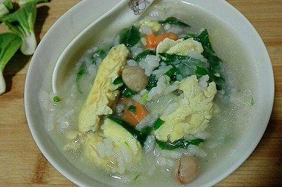 青菜鸡蛋菜粥