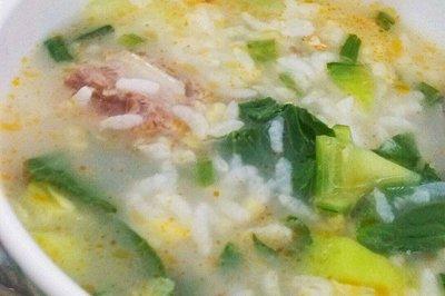 猪骨青菜粥