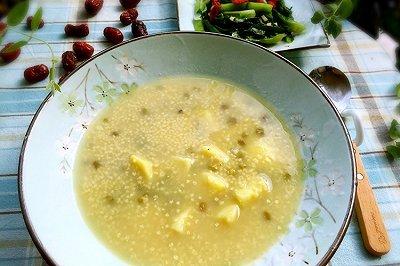 小米绿豆番薯粥