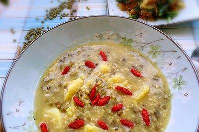 玉米绿豆红薯粥