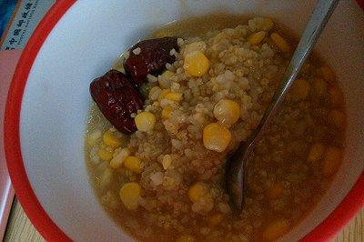 红糖玉米小米粥
