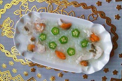 秋葵咸蛋粥