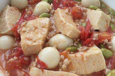 西红柿肉末炖豆腐(豪