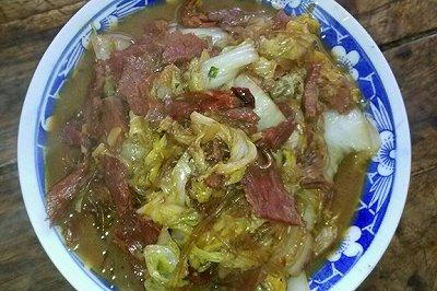 大白菜牛肉炖粉条
