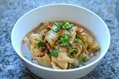 白菜炖豆腐