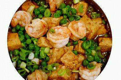 虾仁鸡丁豆腐煲