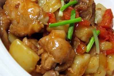番茄土豆炖鸡块