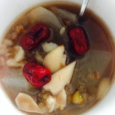 冬瓜百合绿豆红枣汤