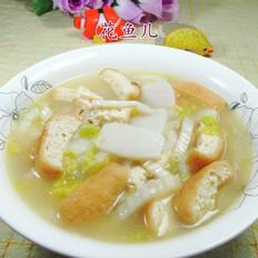 油豆腐白菜年糕汤