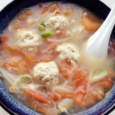 番茄猪肉豆腐丸子汤